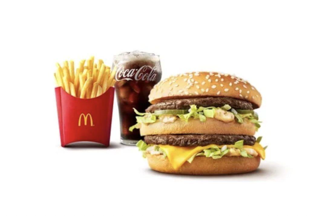 マクドナルドのビックマックセットの画像
