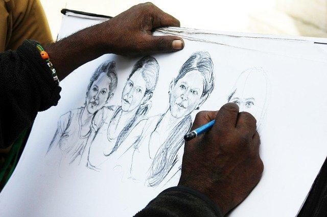 絵を描いている人