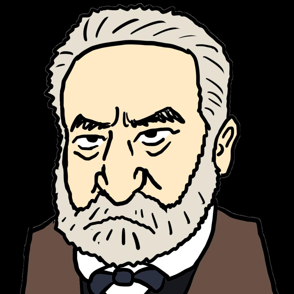 ヴィクトル・ユーゴーの似顔絵