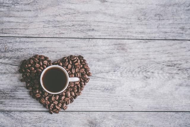 ハートのコーヒー